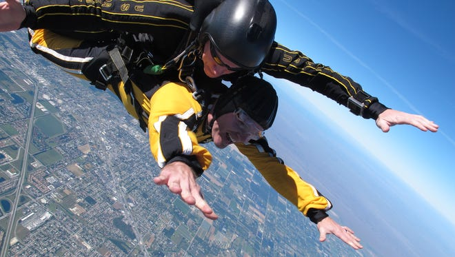Capt. Doy Demsick was honored to jump with the Golden Knights.