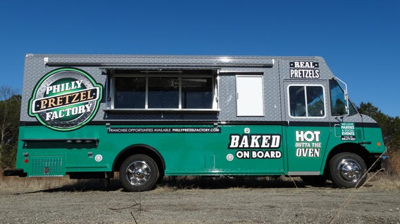 This custom food truck is an example of one type of mobile food equipment produced at Custom Sales and Service Inc. in Hammonton.