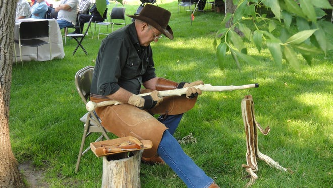 Whittling is among the many demonstrations happening Saturday at Saddles and Spurs.