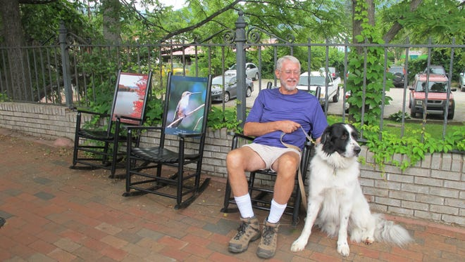 Throughout summer, residents and visitors (and their dogs) have been enjoying the rocking chairs that will be auctioned Oct. 28.