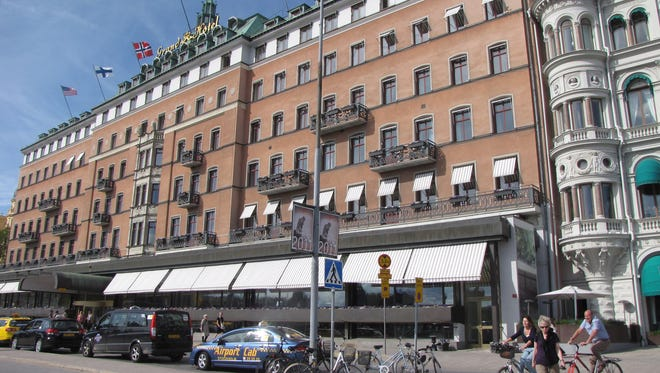 Right on the water facing Old Town and the Royal Palace is the Grand Hôtel, an elegant Stockholm landmark since 1874.