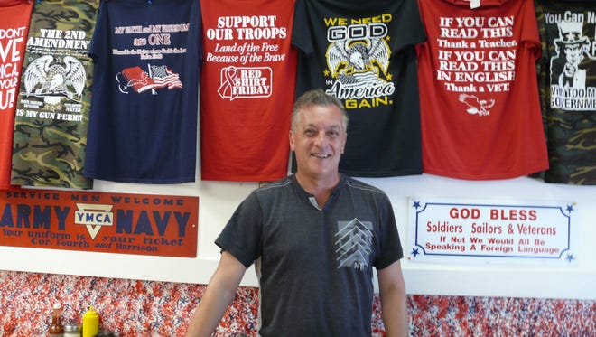 Owner Mite Andovski keeps patriotism at the forefront at Loreen's Village Cafe in Palm Bay.