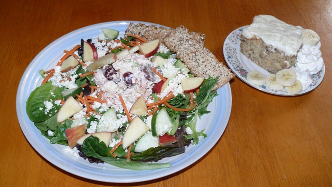 Waldorf Salad at 905 Café in downtown Melbourne goes perfectly with a side of banana pudding.
