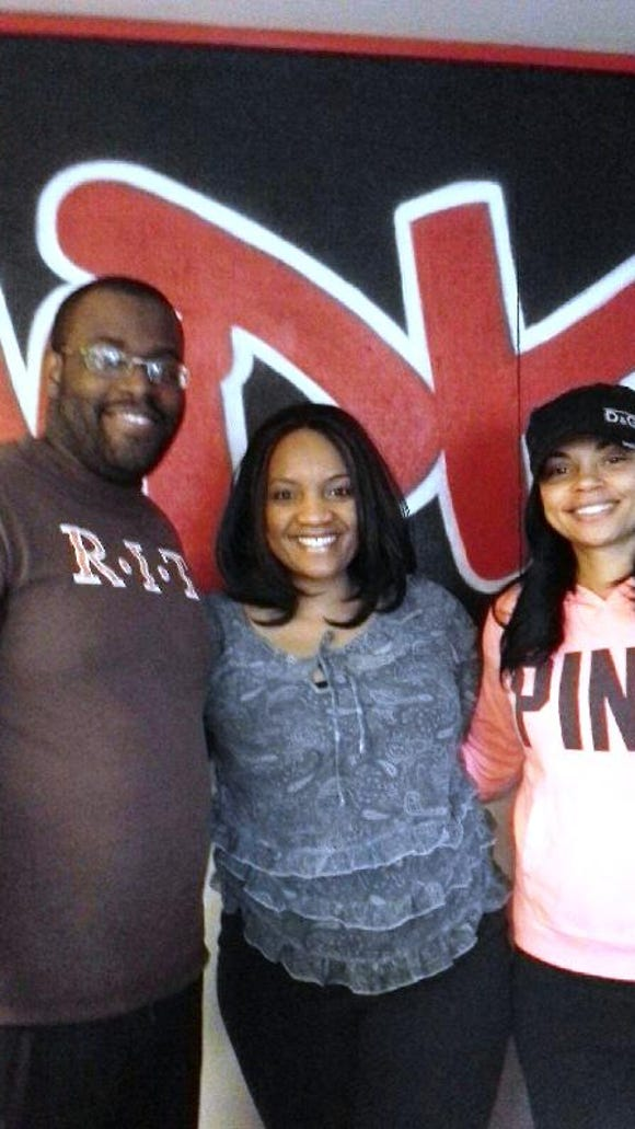 I spent a fun morning with DJ Tariq Spence (left) and DJ Reign (right) on April 10 at WDKX.