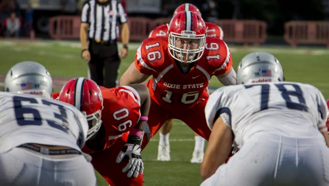 Former Dixie State linebacker Robert Metz is set to join the Green Bay Blizzard of the Indoor Football League for the team's final three games of the 2017 season. Metz (6-4, 235), set the DSU single-game record with 19 tackles in his final collegiate game at Central Washington.