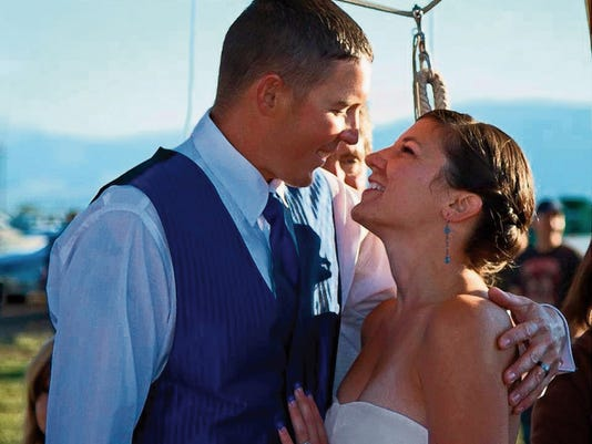 Jason and Jenny Bednorz were married three years ago in Pop-A-Top, Again during the White Sands Balloon Invitational and plan to celebrate their anniversary by returning to the National Monument this weekend.