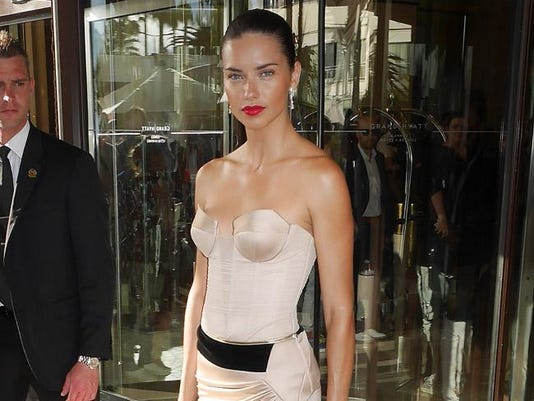 Adriana Lima in Cannes