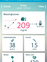 The diabetes management app from Philips.