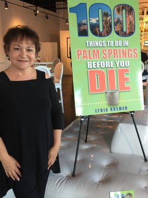 Author Lydia Kremer at a book signing benefitting the Palm Springs Historical Society and held at the Eight4Nine restaurant, hosted by owner/partner Willie Rhine.