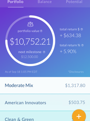 Screenshot of Stash personal finance app