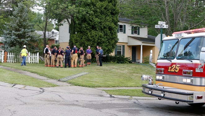 Colerain Township firefighters on scene of a residential fire at the intersection of Cheltenham and Fulbourne in Colerain Township.