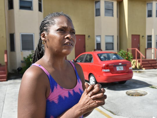 "Charlene Brooks, 48, talks about her next-door neighbors Eric Martin and Willie Lewis, both 21, outside their apartment building in the 3000 block of Avenue D in Fort Pierce on Monday, Jan. 29, 2018. Martin, Lewis and friend Tyrone Lee Wilford, 22, all died as a result of a car crash Friday night in the 9400 block of State Road A1A in St. Lucie County. ""I met Eric, Willie, I met all the guys over there,"" Brooks said. ""They were some nice boys; I never had a problem out of them. They always just went to work and went to school, they never bothered nobody, never a houseful, just always just mind their own business and stuff. I'm really so sad to hear what happened to them. It really shocked me; it really really shocked me."""