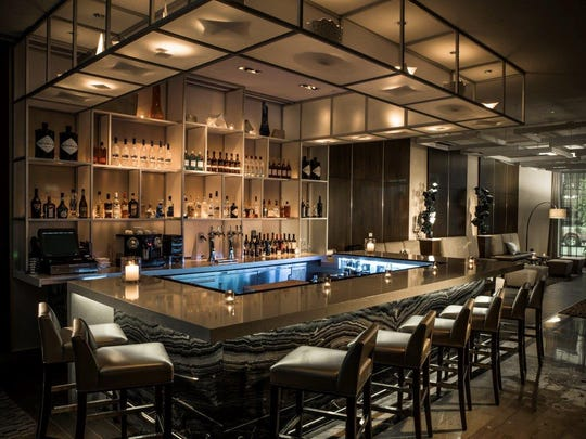 The lounge at the new AC Hotel in New Orleans.