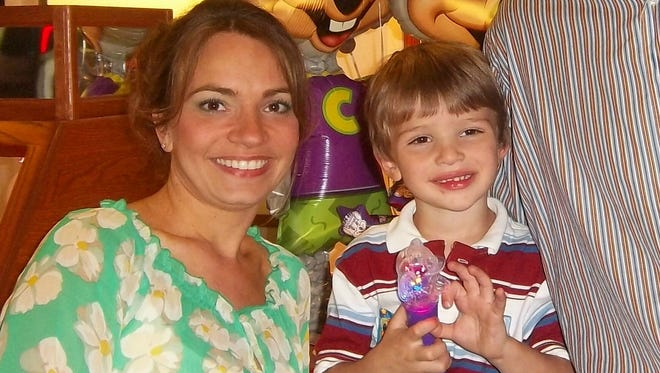 Jaime Erskine-Pettit is pictured with her son, Drake.