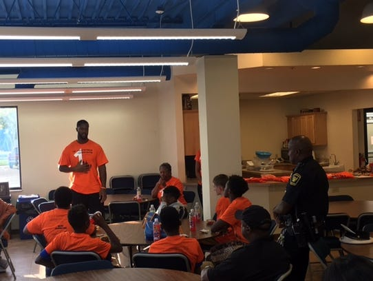Michael Johnson brought kids and law enforcement together