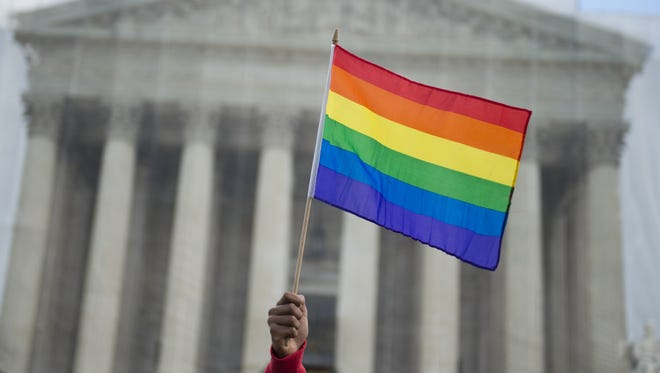 The Supreme Court case on same-sex marriage reaches a crescendo Tuesday after a 45-year courtship.