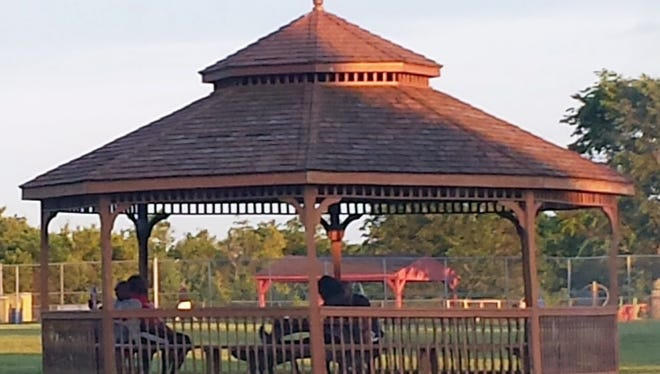 This gazebo at Fairfield Township's Millikin Road park sits in front of the baseball fields and needs to have its rails and floor refinished,  according to a park assessment report.