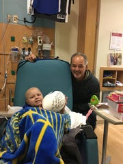 Chuck Pagano visited Brody Stephens on Thanksgiving morning 2016.