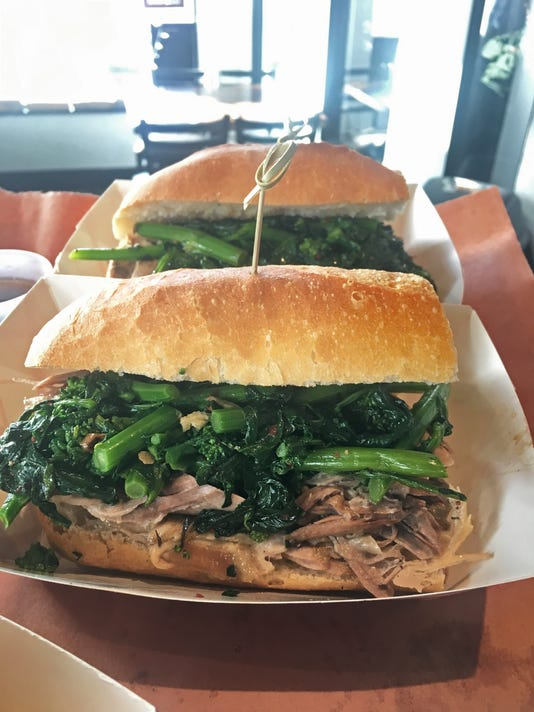 Just one of Kimchi Smoke's sandwiches