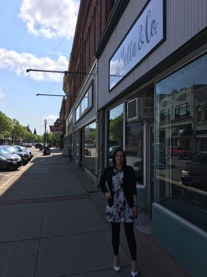 Tara Manzke will open Bria Bella & Co., a women's clothing store, at 925 Main St. in downtown Stevens Point on June 1, 2017.