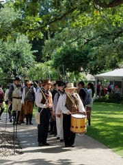Traditional reenactors at the Alamo during the recent