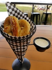 The Pretzels and Beer Cheese ($5), comes with four homemade pretzels and a side of creamy beer cheese.