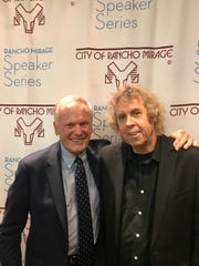 Tab Hunter and Bruce Fessier after a talk at the Rancho