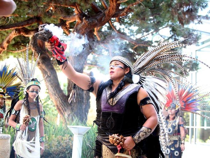 Members of Yaocuauhtli - Eagle Warriors dance group