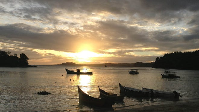 The sun rises on the island of Pulah Weh in the Aceh province of Indonesia. It's legendary among divers, and non-divers can enjoy snorkeling, fishing, hiking and relaxing in seaside bungalows.