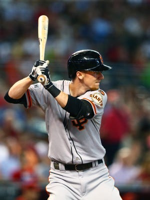 Giants' Matt Duffy is hitting over .300 in the third spot in the lineup.