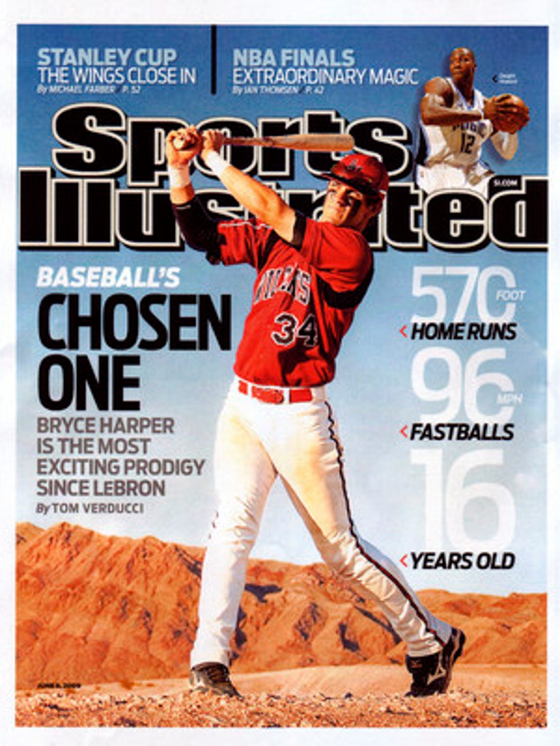 Bryce Harper graced the coverage of Sports Illustrated