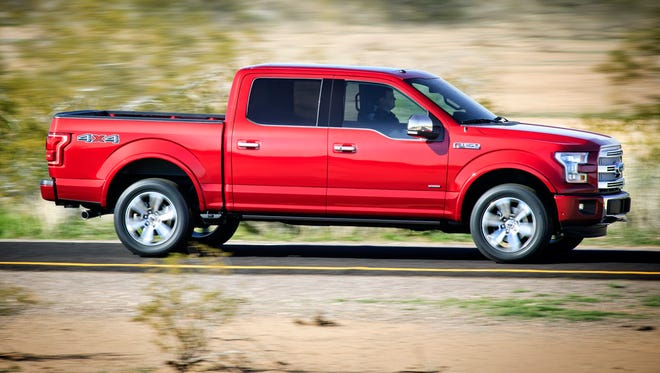 Ford's aluminum-bodied 2015 F-150 pickup was named Truck of Texas
