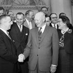 President Dwight Eisenhower with a group of Republican congressmen in 1960.