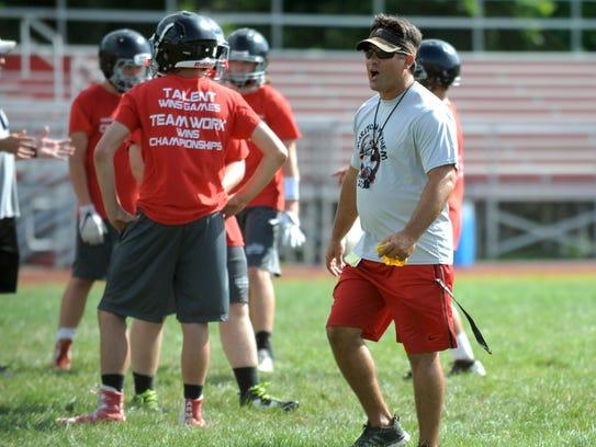 Cinnaminson High School football coach Mario Patrizi