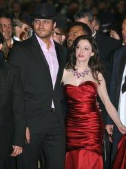 Director Robert Rodriguez and actress Rose McGowan
