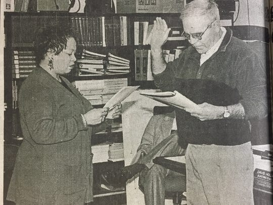 Charles N. Wells was sworn in as the newest member of the Union County Board of Education in January 2000. He filled the seat vacated by Gary Mitchell in 1998.