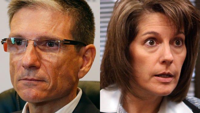 Nevada Republican Rep. Joe Heck and Democrat Catherine Cortez Masto, former state attorney general.