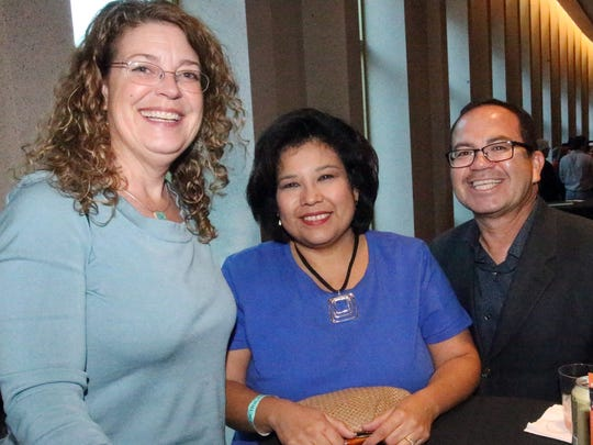 Cezy Collins, left to right, Anna Perez and Art Fierro.