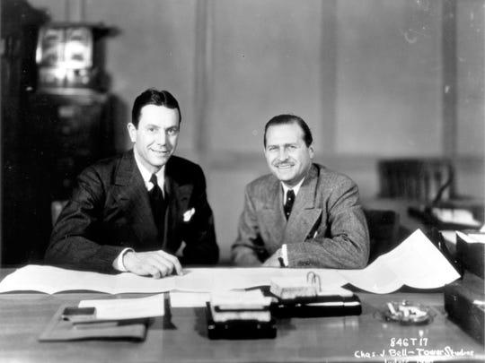 Tony Hulman and Wilbur Shaw in 1946.
