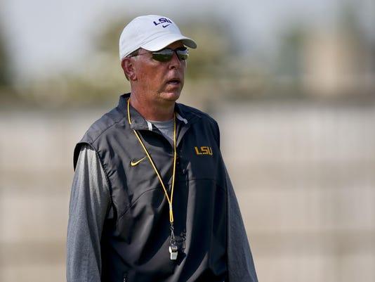 NCAA Football: LSU-Practice