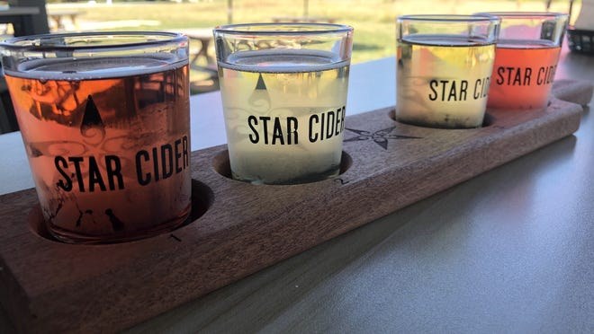 If it's fall, well then, Star Cider in Canandaigua has got you covered with some new and old favorite hard ciders, including a tart, semi-sweet cranberry (from left), the old standby and barrel-aged Frisky Whisky, a dessert-like Apple Crisp and a small batch blackberry bramble.