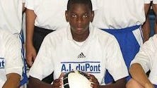 Alexander Kamara was on the soccer team at  A.I. du Pont High School.