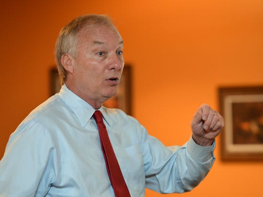 Maryland Comptroller Peter Franchot. Gov. Larry Hogan vetoed a bill that would strip the state's Board of Public Works of its power to oversee school construction funding and take power away from Franchot.