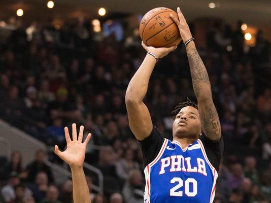 USP NBA: PHILADELPHIA 76ERS AT MILWAUKEE BUCKS S BKN MIL PHI USA WI