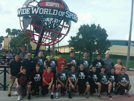Bishop Ahr wrestling team in Disney World