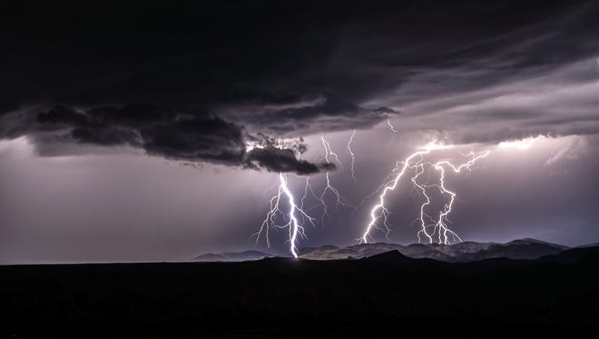 Stephen Dorn chased this storm and set up to capture this photo in between Silver City and Lordsburg. He said it's one of his favorite photographs.
