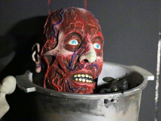 A head on the stove at the Dominion of Terror as seen