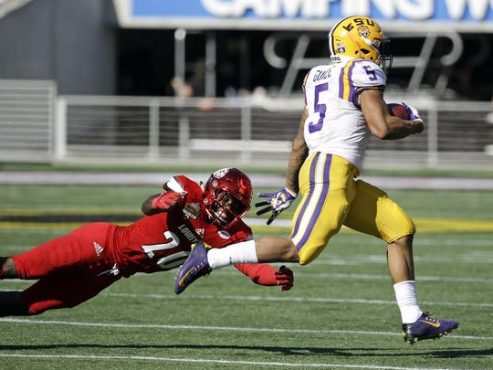 Derrius Guice finished the season as the SEC's leading rusher.