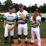 The 18U Midland Redskins have made the Connie Mack World Series in Farmington, New Mexico. Loveland's Luke Waddell (right) is on the team as a 16-year-old. With Waddell are teammates Chase Murray from CHCA (left) and Brayden Combs of Beechwood (center).