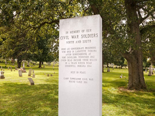 A monument honoring both Union and Confederate soldiers